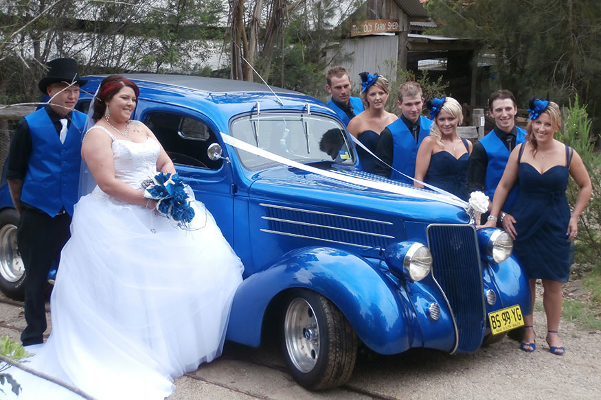 Hot Rods Blue wedding car hire