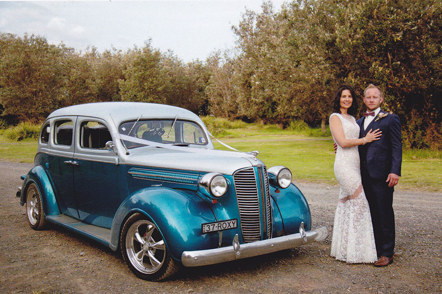 Roxy luxury Hot Rods wedding car hire
